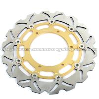 Wholesale Front Motorcycle Brake Parts Disks Yamaha FJR 1300 YZF R7 CNC Billet Black Gold from china suppliers
