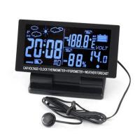 Wholesale Digital Car Thermometer Hygrometer 12V DC LCD Screen Hygrothermograph Weather Forecast from china suppliers