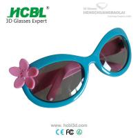 Wholesale Lightweight Skyblue Kid Size Polarized 3D Glasses For 3D TV And 3D Cinema from china suppliers