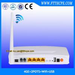 FTTH 4FE, 4GE 2POTS wifi EPON ONU HGU by optic network original manufacturer