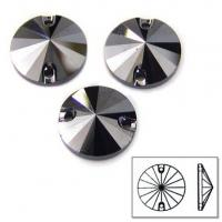 Wholesale high quality sew on glass rhinestones foil back stone jet hematite from china suppliers