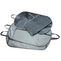 Wholesale Recycle Navy Nylon Waterproof Fabric Suit Garment Bag With Black Zipper from china suppliers