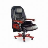 Wholesale PU Executive Chair with 35# Sponge, Solid Wood Arm and Leg, Can Recline from china suppliers