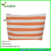 Wholesale lady paper straw purse striped straw clutch bags from china suppliers