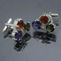 Wholesale Cuff Links, Made of Brass, Available in Various Styles  from china suppliers