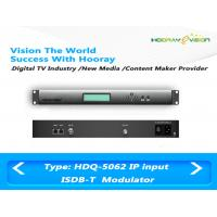 Wholesale Digital TV ISDB T Modulator Dual Frequencies Output Support PID Remapping from china suppliers