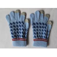 Wholesale Winter Hand Warm Jacquard Touch Screen Phone Gloves For Mens from china suppliers