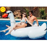 Wholesale White Inflatable Water Floats , Inflatable Swan Pool Toy For Two Adult from china suppliers