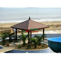 Wholesale Plastic Wood Composite Custom Made Gazebo Waterproof Weather Resistant On The Beach Seaside from china suppliers