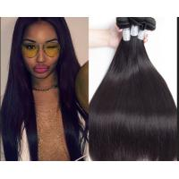 Wholesale Peruvian Original Straight Real Human Hair Weft No Shedding No Tangle 1b / Gray from china suppliers
