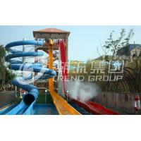 Wholesale Colorful Above Ground Fiberglass Water Slides , Fiberglass Pool Slide for Giant Water Park from china suppliers