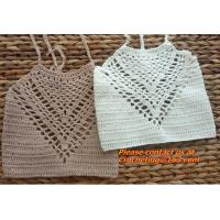 Crochet Crop Top Summer Handmade Knit Beach Cami Boho ...
