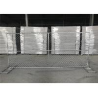 "Wholesale 8'x12' construction chain link fence panels 1⅝""(41.2mm) with a wall thickness 16ga /1.6mm mesh aperture 2¼""x2¼""(57mmx57 from china suppliers"