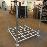 Quality Warehouse Storage Use Stacking Steel Powder Coated 4 Round Posts Tire Stacking Rack for sale