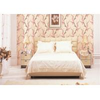 Wholesale Beautiful Flowers Room Decoration Wallpaper , 3D Effect Peach Blossom Wallpaper from china suppliers