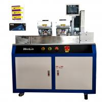 Wholesale Dual Card Punching Machine Shaped smart card making machine for standard card 3tags card from china suppliers