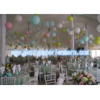 Wholesale Rose Green Yellow Hanging Paper Lanterns For Birthday Party / Room Decoration Gently from china suppliers