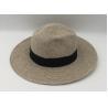Buy cheap Wide Brim Straw Panama Hat Fedora Foldable Beach Sun Hat/summer straw hat from wholesalers