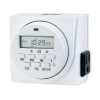 Wholesale Advanced USA Canada 7-day Dual Outlet Time Switch Digital Light Timers Plug in Digital Timer for Indoor Gardening from china suppliers