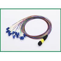 Wholesale 12 Fiber MPO to LC Fiber Optic Patch Cord, Single Mode OS2 Breakout Cable Assembly from china suppliers