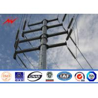 Quality 9m - 3KN Galvanized Utility Power Poles For Outside Electrical Distribution Line for sale