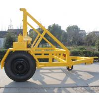 Wholesale Cable Drum Trailer Jack 5Ton With Hand Brake and Air Brake for Cable Transportation from china suppliers