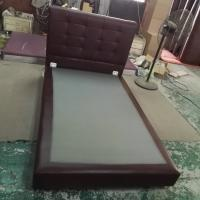 Quality 6027,leather bed, living room home furniture,KD furniture for sale