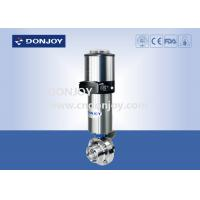 Wholesale Stainless steel 304 / 316 pneumatic sanitary butterfly valves with positioner and actuator from china suppliers