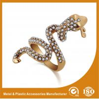 Wholesale OEM / ODM 18K Gold Snake Shape Fashion Jewellery Rings For Anniversary from china suppliers