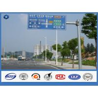 Wholesale Q235 steel material 3mm Road Sign Traffic Signal Pole With Single / Double Outreach Arms from china suppliers