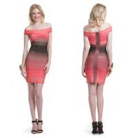 China Top Sale Sexy Gradient Wholesale Trendy Celebrity Bodycon Bandage Dress New Style on sale