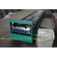 Corrugated Roof or Wall Cladding Panel Roll Forming Machine With PLC Full Automatic Control System Speed 0.3mm - 0.8mm