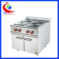 Wholesale Commercial Stainless Steel Western Kitchen Equipment Electric 4 Hot-plate Cooker With Cabinet from china suppliers