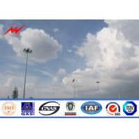 Wholesale Windproof Hot Dip Galvanized High Mast Tower , Airport Metal Light Pole from china suppliers