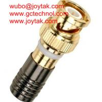 Wholesale BNC Coaxial Connector Compression Type 50ohm RG6 RG59 Coax Cable Gold Plated/ BNC.MC50.03G from china suppliers