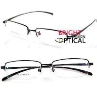 Wholesale 9213 Man′s Half Rim Pure Titanium Optical Frames Eyeglasses Eyewear from china suppliers
