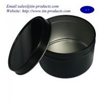 Wholesale Custom Round Candle Tin Box, Metal Candle Box, Tin Case, Black Round Case -Goldentinbox from china suppliers