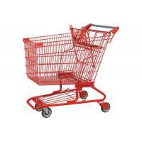 Wholesale 4 Wheel Chrome Plated Supermarket Shopping Trolley Red 80-160kgs from china suppliers