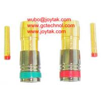 Wholesale RCA Coaxial Connector Compression Type RG6 RG59 Coax Cable CCTV Gold Plated / RCA.C.06G from china suppliers