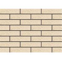 Wholesale Clay Exterior Thin Brick Veneer , External Brick Tiles Rough Surface from china suppliers
