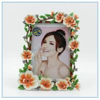 Wholesale Shinny Gifts Metal materials flower photo frames for souvenir gifts from china suppliers