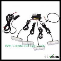 Wholesale 4 X 3 LED Blue Car Warning Light Strobe Flash Light Lamp from china suppliers