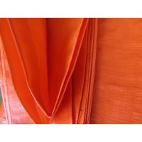 Quality orange color Ready-made waterproof  PE tarpaulin sheet for sale