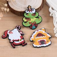 Wholesale Wholesale Custom Hook And Loop Backing Christmas Decoration Iron On Patches Best Selling Cheap PVC Patches For Clothes from china suppliers