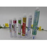 Wholesale Custom Artwork Collapsible Aluminium Tubes , Screw Cap Aluminum Lotion Tubes from china suppliers