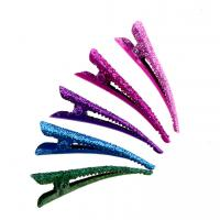 Quality 2016Fashion Colorful Hair pins Metail Hair clip for hair extension HairSectionClipsPin10pcs/card for sale