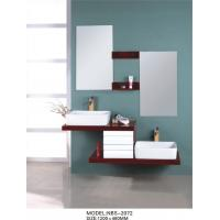 Quality 1200 * 460mm floating double vanity , floating wood vanity Silver Mirror with oak Mirror Shelf for sale