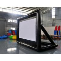 Wholesale Special White Material Inflatable Blow Up Movie Screen For Outdoor Lawn / Park from china suppliers
