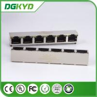 Wholesale KRJ -56S8P8C1X6YGNL Shielded 1 X 6 Ports Rj45 Fenale Jack Multi Rj45 With LEDs from china suppliers