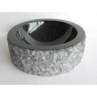 Wholesale absolute black farmhouse sink ,Round Granite or marble stone Sink for bathroom from china suppliers
